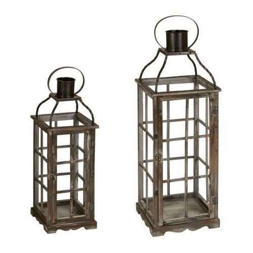 Glitzhome House Primitive Oversized Metal Candle