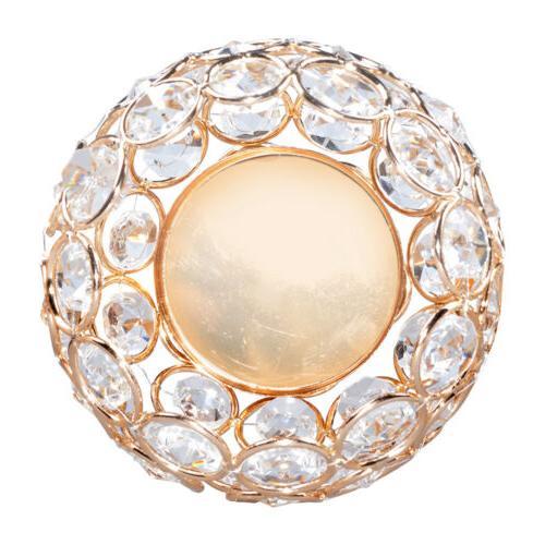 3 Crystal Votive Light Holders Candelabra Wedding