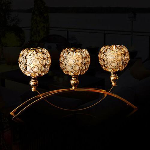 3 arm crystal hollow votive tea light
