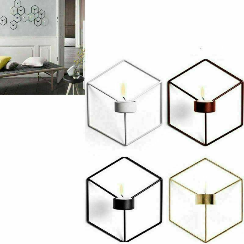 Chic Nordic Style 3D Geometric Candle Holder Metal Candlesti
