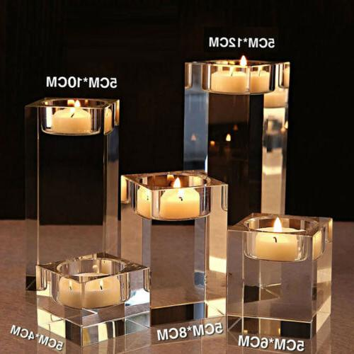 1/3pcs Modern Crystal Clear Glass Votive Candle Holder Tea L