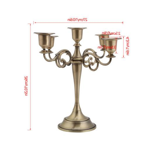 Wedding Decor 5 Alloy Candle
