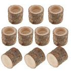 50x Natural Tree Stump Wooden Candle Holder for Romantic Can