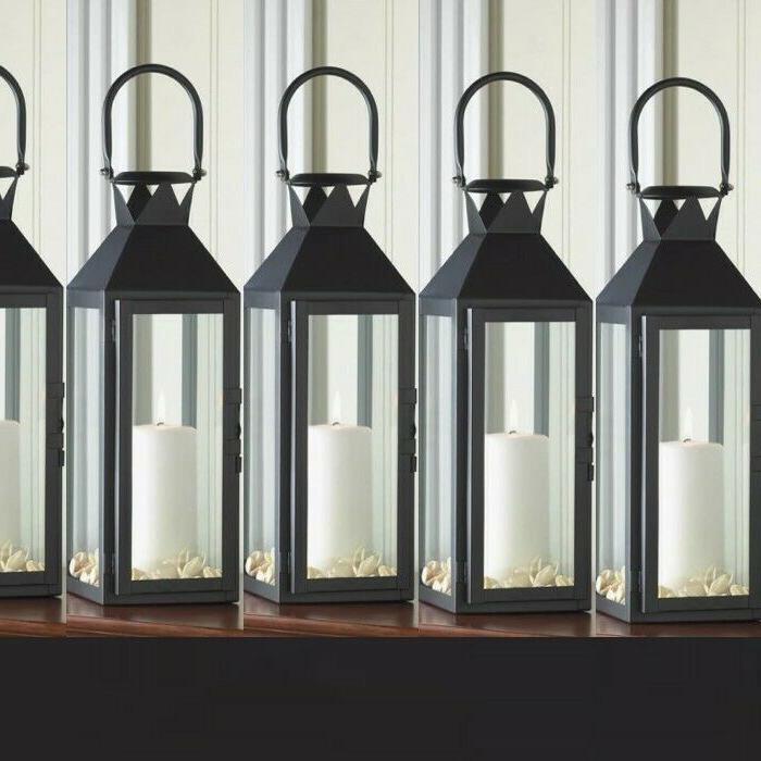 6 Classic Lantern Chic White Candle Holder Wedding Centerpie
