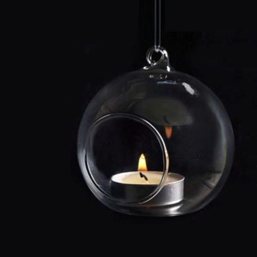 6pcs Hanging Globe Candle Light Terrarium