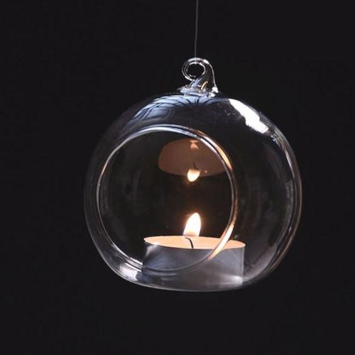 6pcs Hanging Clear Globe Ball Light Holder Air Terrarium