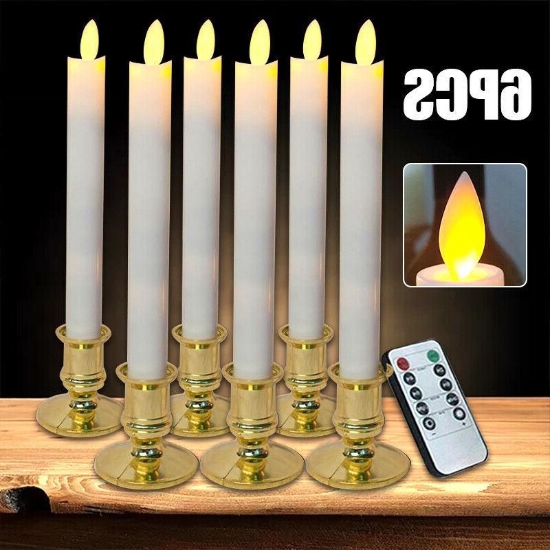 6pcs electric led candles flickering flameless battery