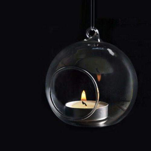 6PCS Glass Planter Plant Container Candle Holder
