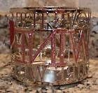BATH & BODY WORKS 3 WICK CANDLE HOLDER Sleeve SILVER LOVE TH