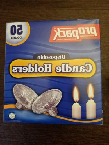 Disposable Candle Holder- 50 count - kosher for passover