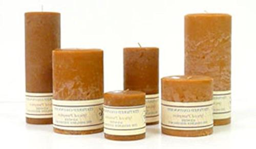 Ginger and Orange 4 x 6 Textured Pillar Candles