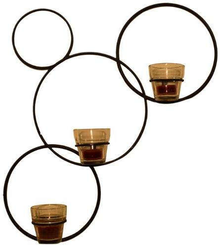 J&J Wire Diagonal Circles on The Wall Votive Holder