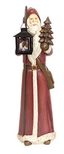 Melrose Rustic Lodge Santa Claus Christmas Candle Holder Tab