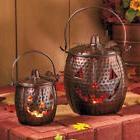 Metal Jack O' Lantern Set of 2 Home Porch Gift Pack Hallowee