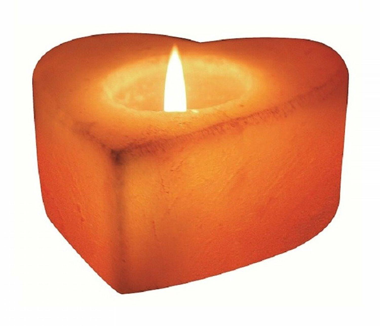 Natural Himalayan Salt Tea Light Heart Candle Holder On SALE