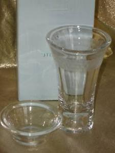 PartyLite Candles CLARITY Glass Taper Tealight Holder