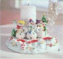 Partylite Snowbell Tealight Pillar Candle Holder