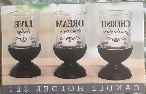 Set of 3 Candle Holder Cherish Dream Live New In Box