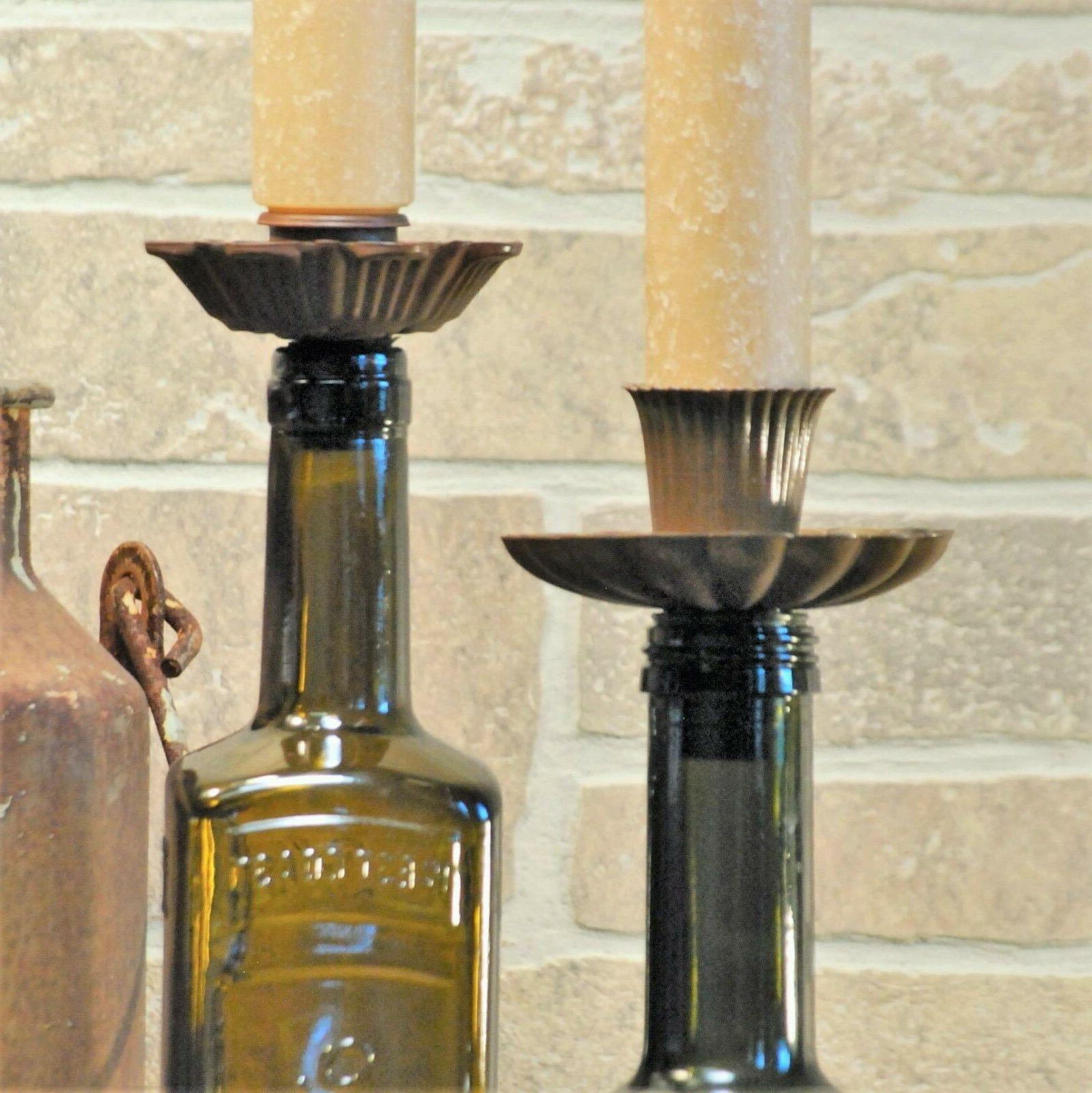 Taper Candle Bottle Set