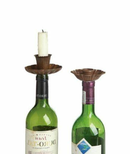 Taper Candle Holders Bottle Set of