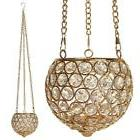 VINCIGANT Gold Hanging Decorative Candle Lanterns Tealight C