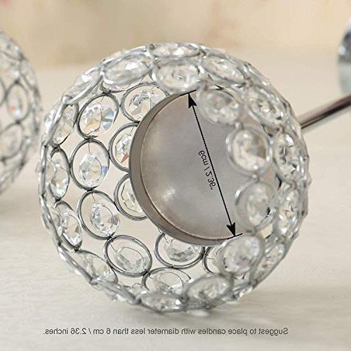 VINCIGANT Day Crystal Tea Light Holders/Sparklers Housewarming Dining Room Table of 2