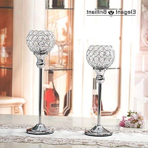 VINCIGANT Day Crystal Holders/Sparklers for Housewarming Table Decorative of 2