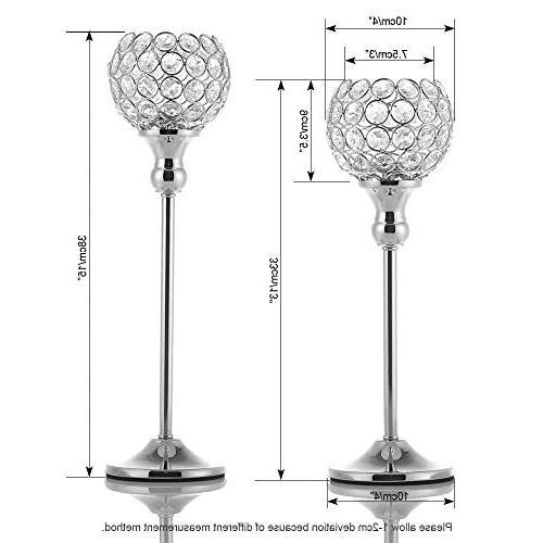 VINCIGANT Day Crystal Candle Holders/Sparklers Housewarming Dining Table 2