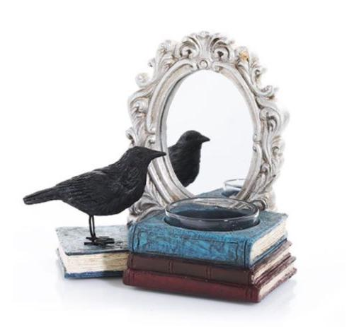 Yankee Candle Halloween Mirror 2020 YANKEE CANDLE HALLOWEEN RAVEN MIRROR MIRROR TEA LIGHT