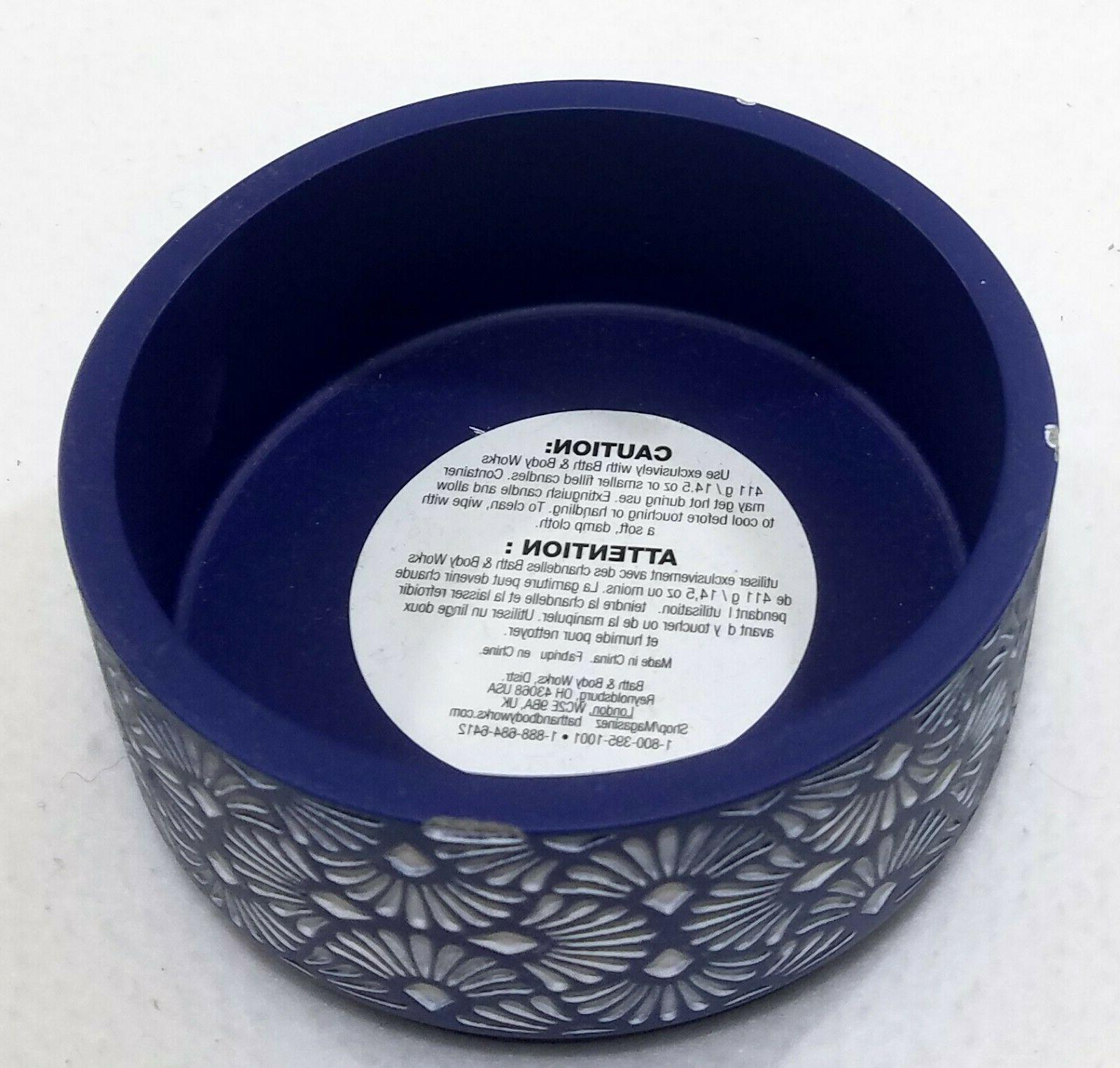 BLUE Large 3-Wick Candle Holder Elevated