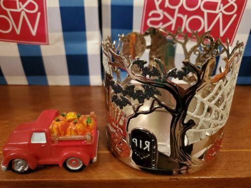 BATH & BODY HALLOWEEN CANDLE TOPPER RED NEW!