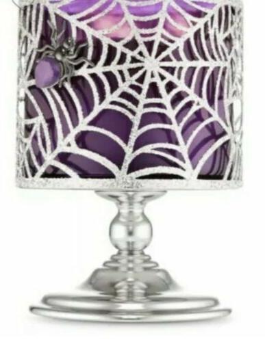 bath and body works pedestal halloween spiderweb