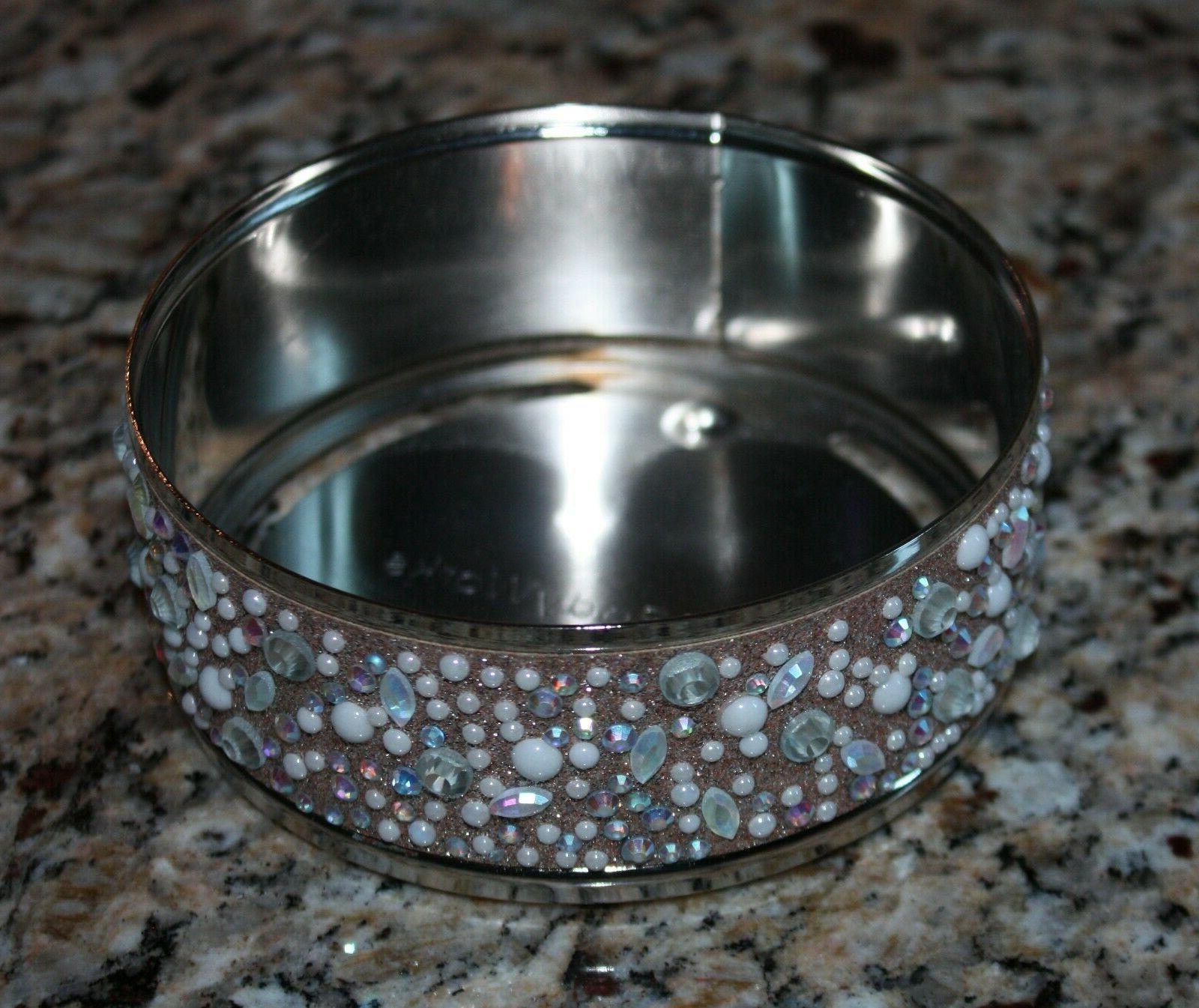 Bath Silver Candle Holder Candle
