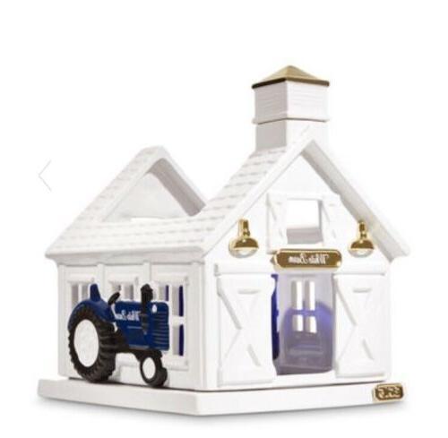Bath Works White Barn Luminary Holder Farmhouse ~Truck ~Ceramic