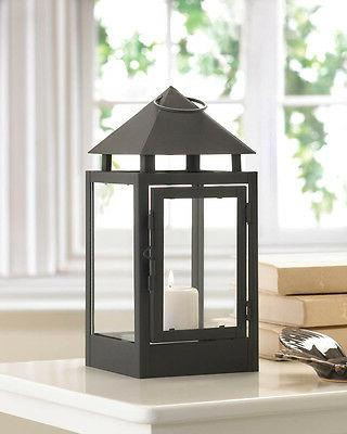 "black 10"" malta Candle Lantern holder lamp outdoor terrace t"