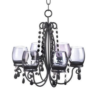 BLACK chandelier CANDELABRA Candle holder Wedding centerpiece