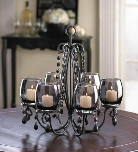 black hanging chandelier candelabra candle