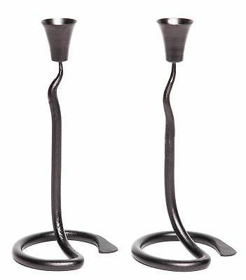 Blacksmith Candle Holder | 2 Wrought Iron wedding candlestic