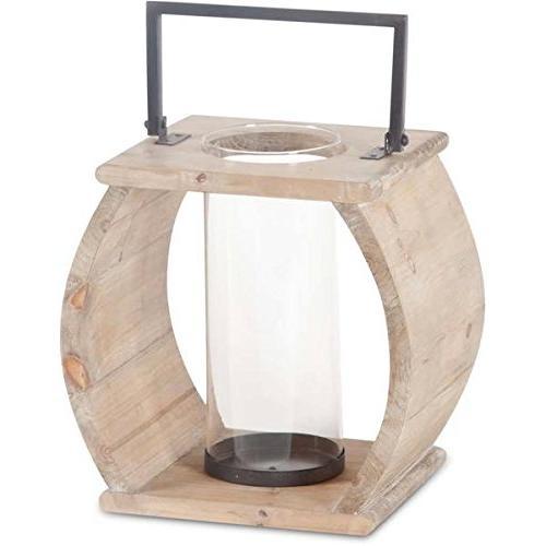 brighton wood candle holder