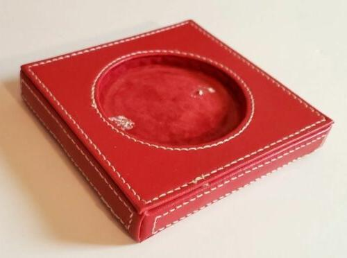 Enchante Accessories Red White Stitching