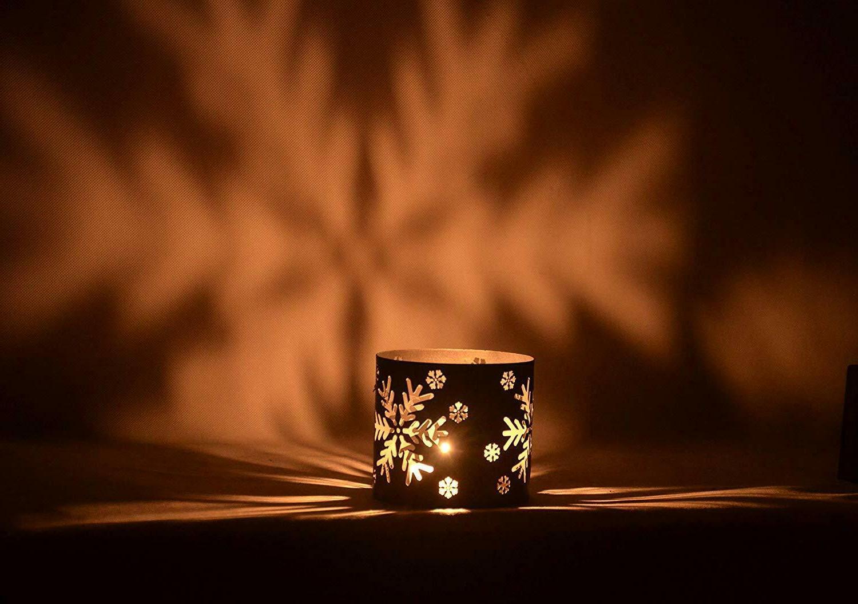 Tea Decorative Snowflat Candle Holder