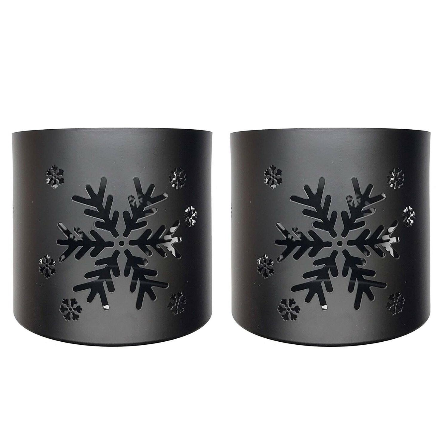 tea light votive wraps decorative black metal