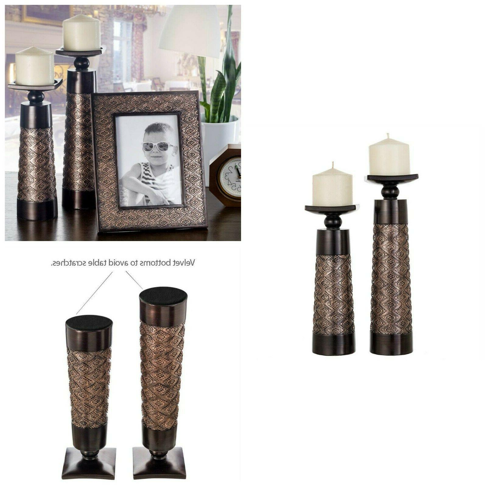 Candle Holders Decorative Pillar Candles Stand Home Kitchen