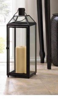 Candleholders Lanterns MIDTOWN LARGE BLACK LANTERN Black Iro