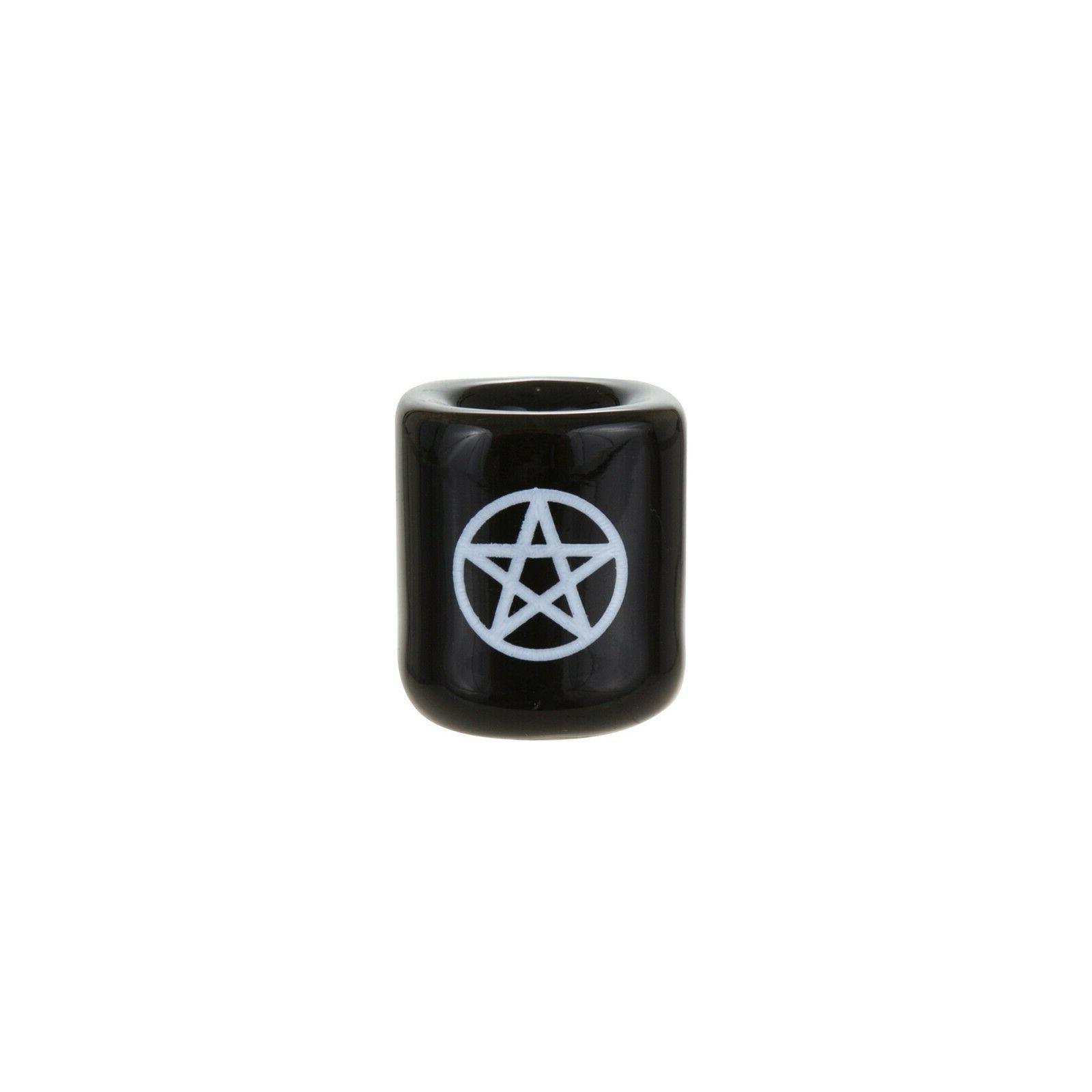 "Mega Candles - 1/2"" Chime Candle Holder White, Set of"