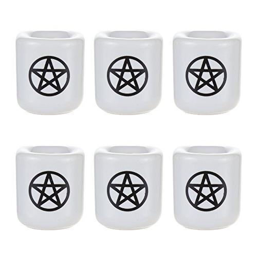 Mega Candles - pcs Ceramic Black Chime Ritual Spell Holder