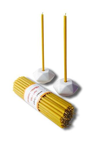 ceramic candle holders beeswax taper