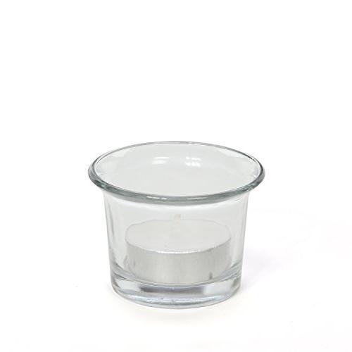 Hosley Clear Glass Light - Diameter. Spa, Tealights, Votive Candle Gardens O4