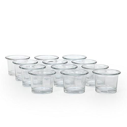 Hosley of Clear Glass Light Diameter. Gift Spa, Aromatherapy, Votive Candle O4