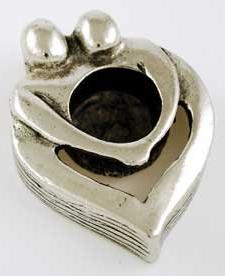 Couple's Heart Chime Candle Holder Wiccan Wicca Pagan Spirit